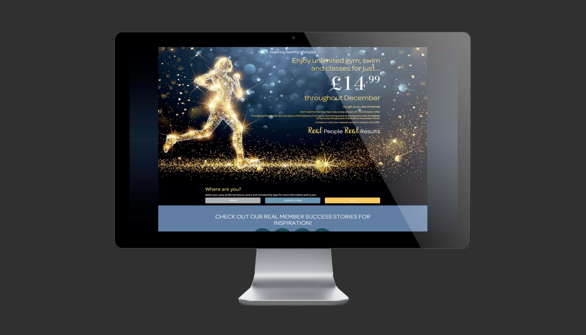 inspiring healthy lifestyle web landing page design