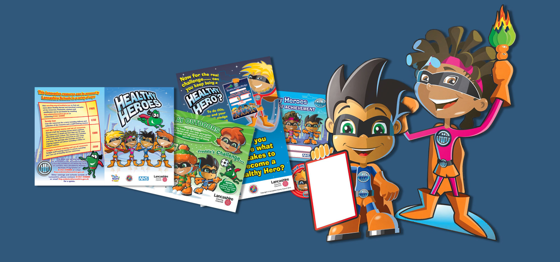 LCC healthy heroes literature and characters