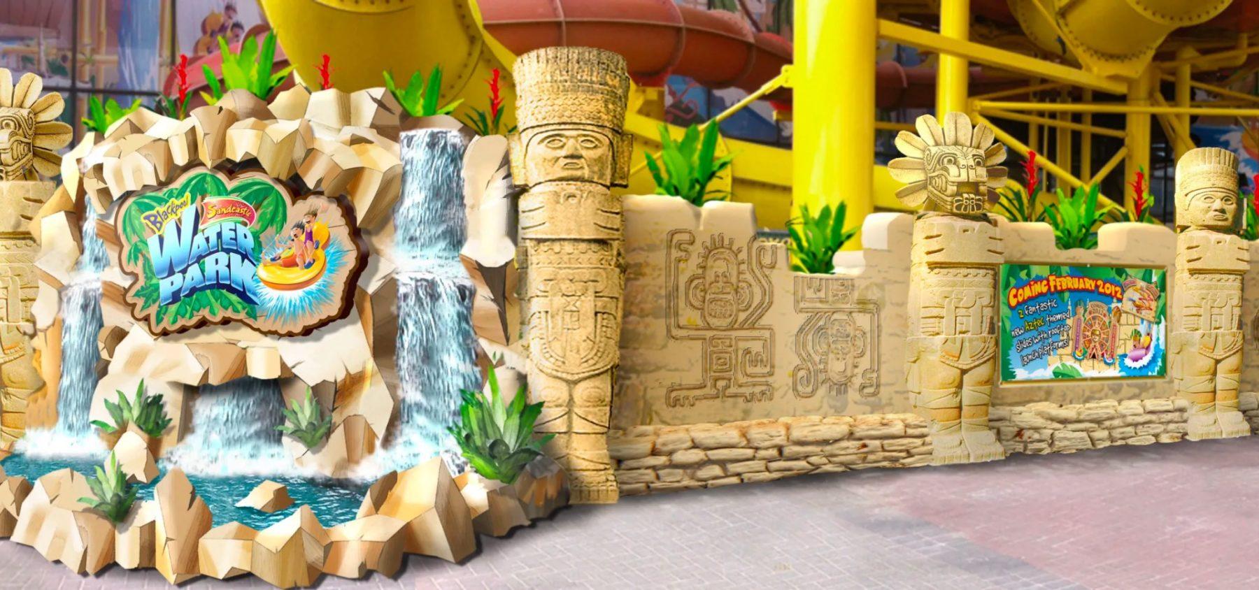 Sandcastle Waterpark Aztec area