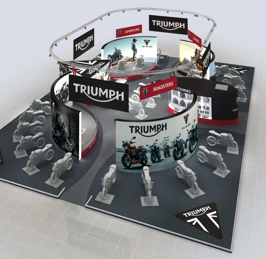 CGI of an exhibition stand