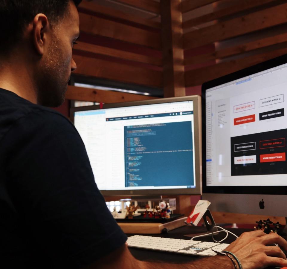 Digital designer building a website design system