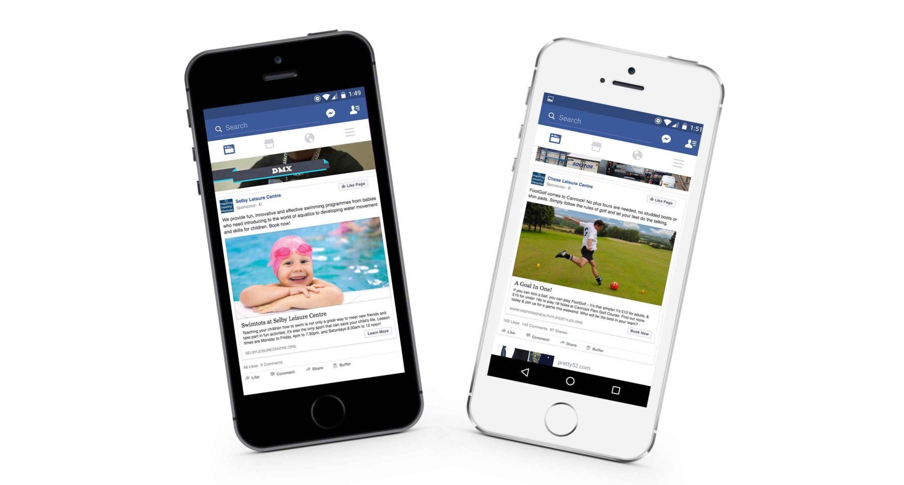 Social media marketing mobile screenshots