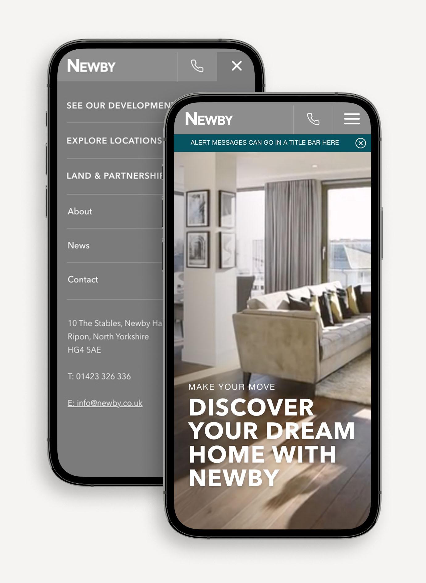 Newby homes web design