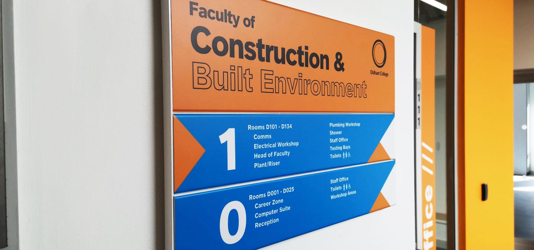 Oldham College Wayfinding Signs