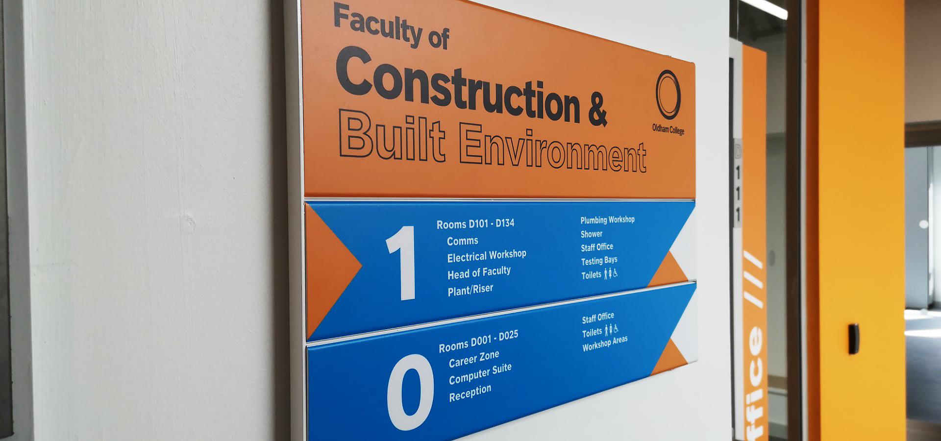 education wayfinding signage