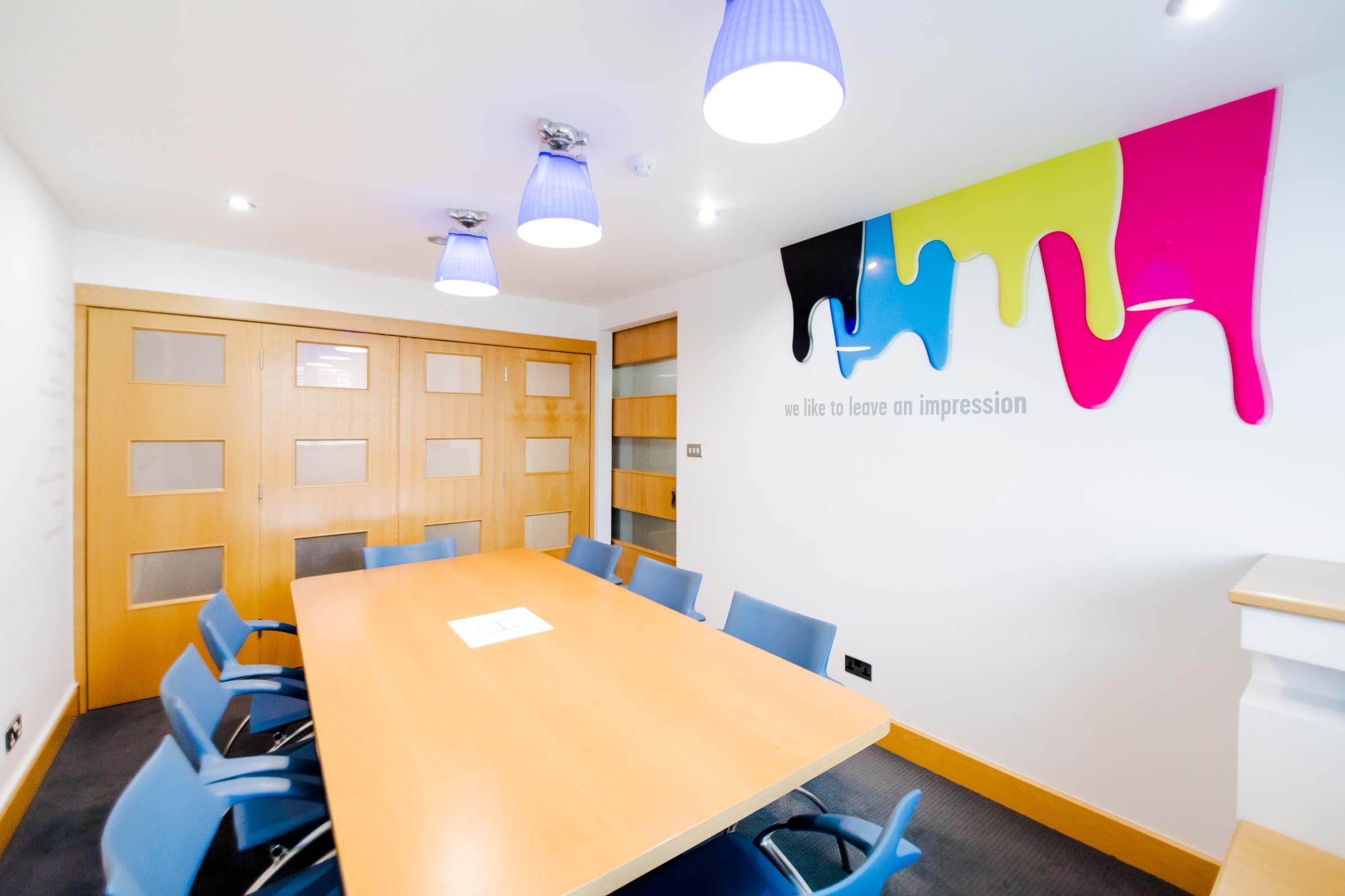 multi-disciplined marketing agency meeting room