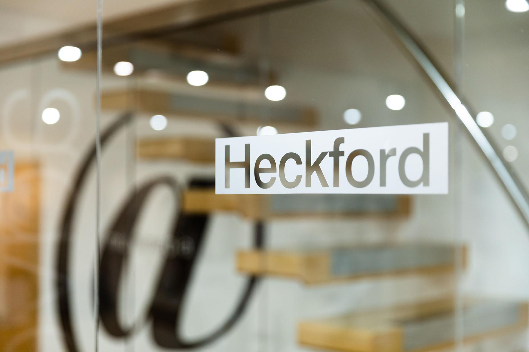 Heckford window graphic