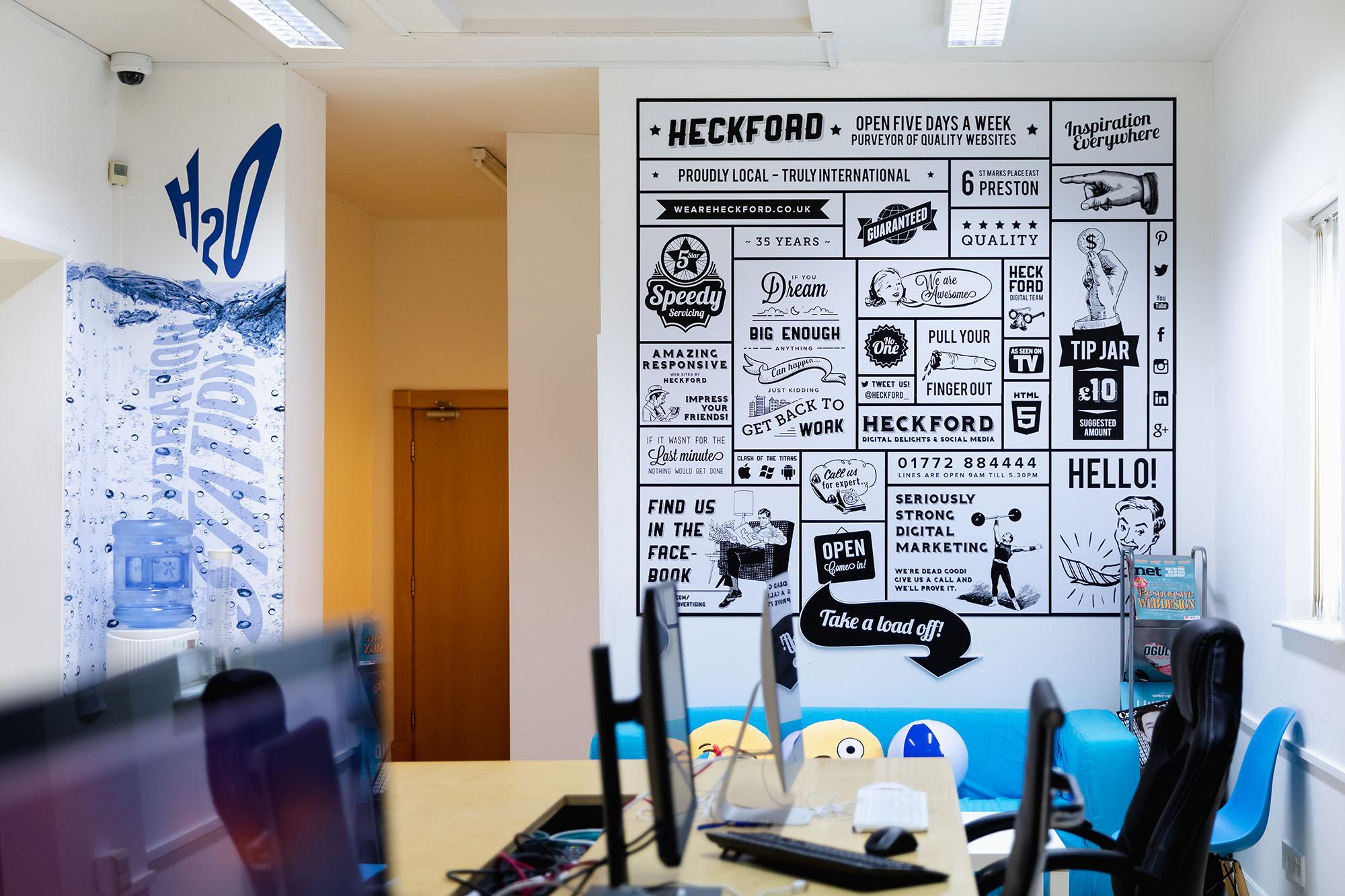 multi-disciplined marketing agency digital office area
