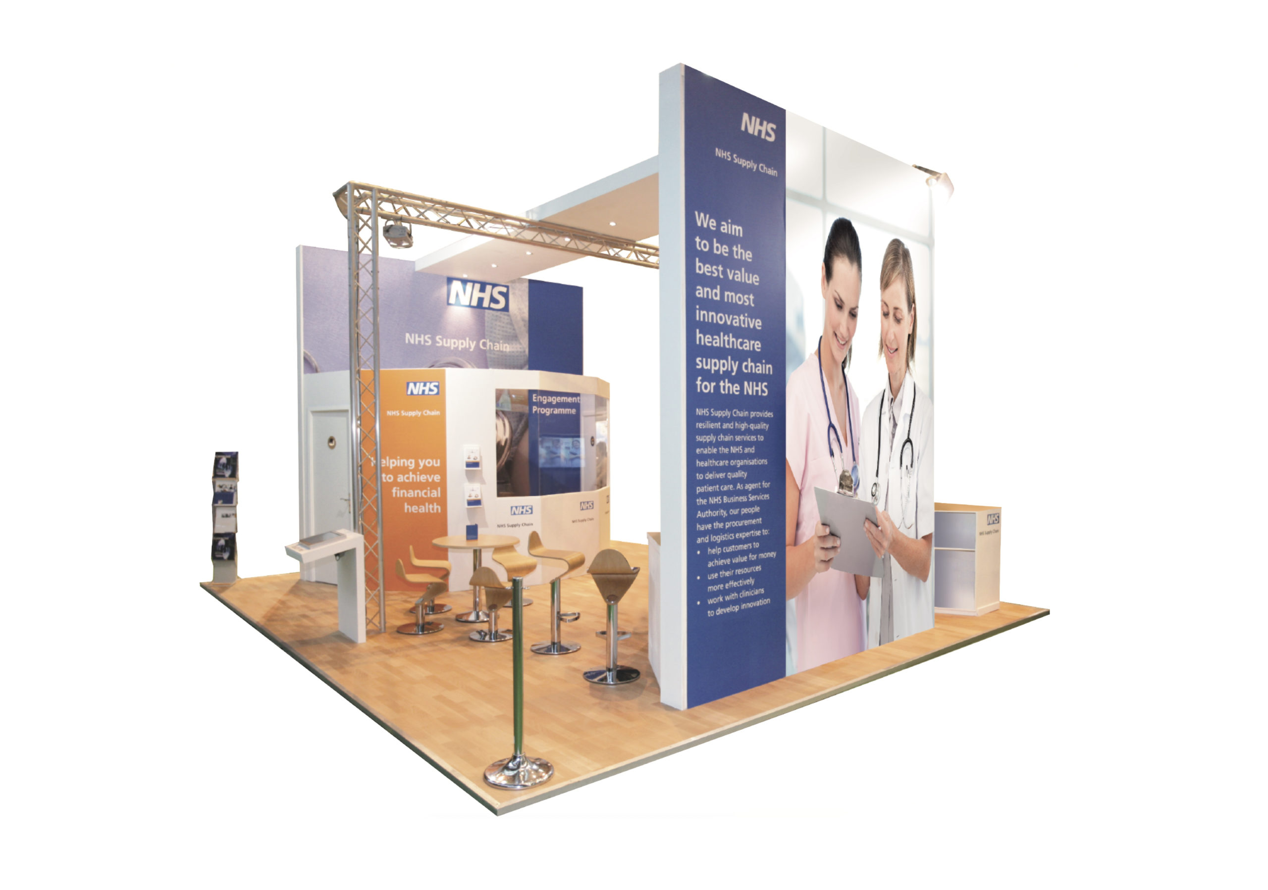 NHS exhibition solution visualisation