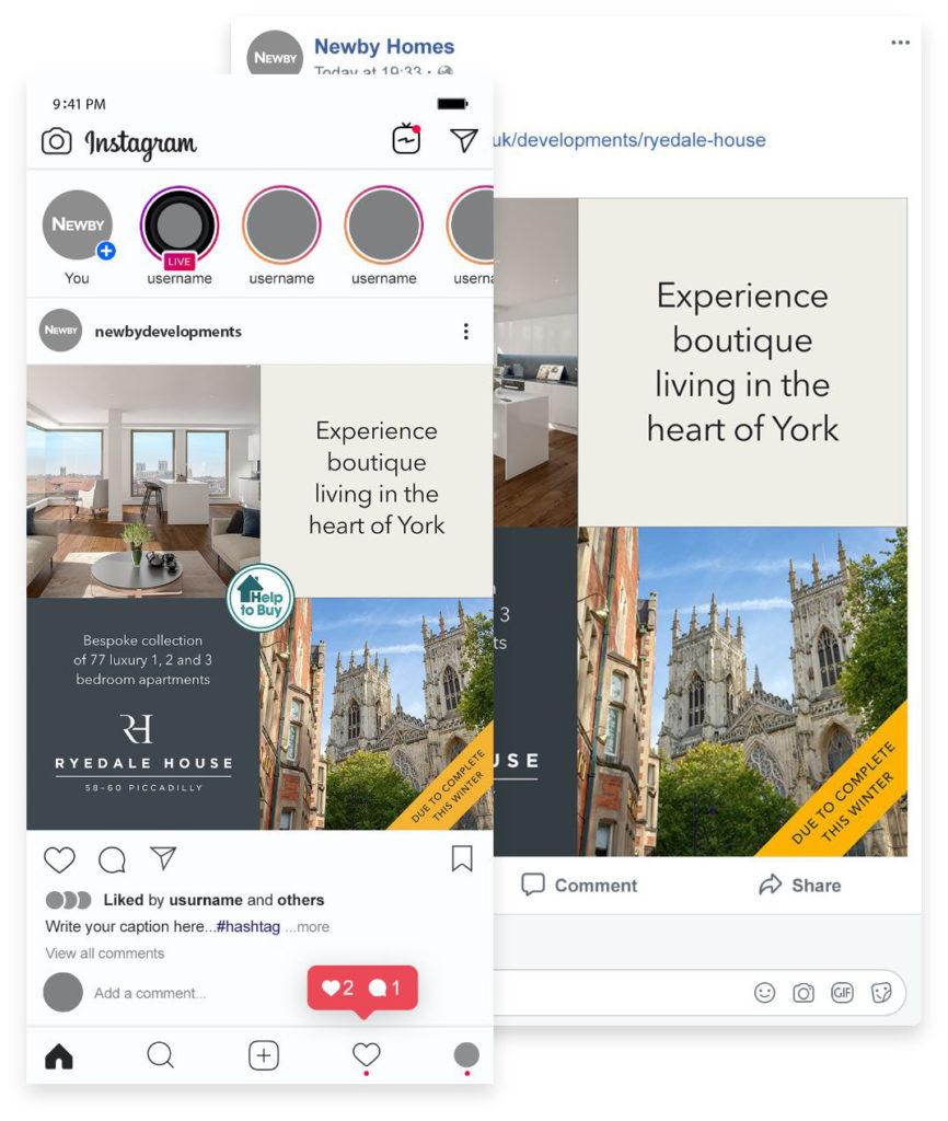 Newby social media screenshots
