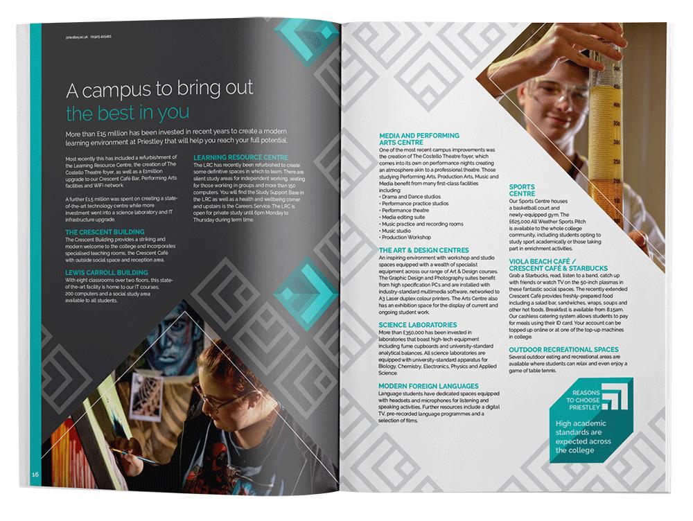 Graphic design print brochure