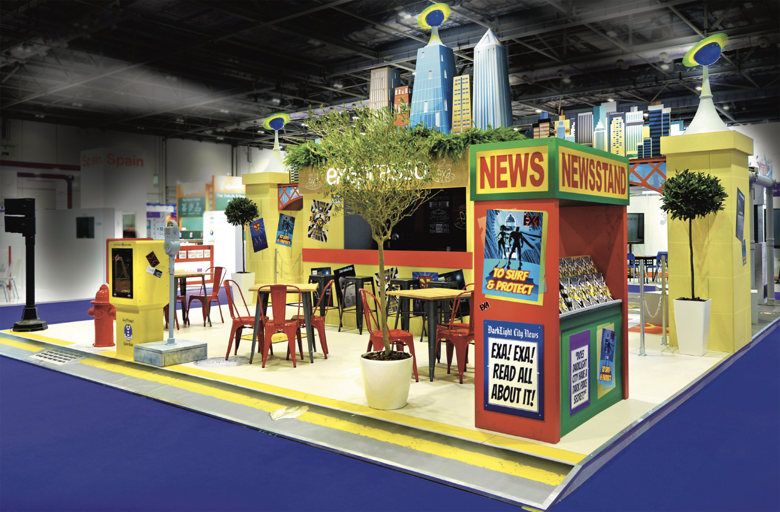 Beach themed exhibition stand solution