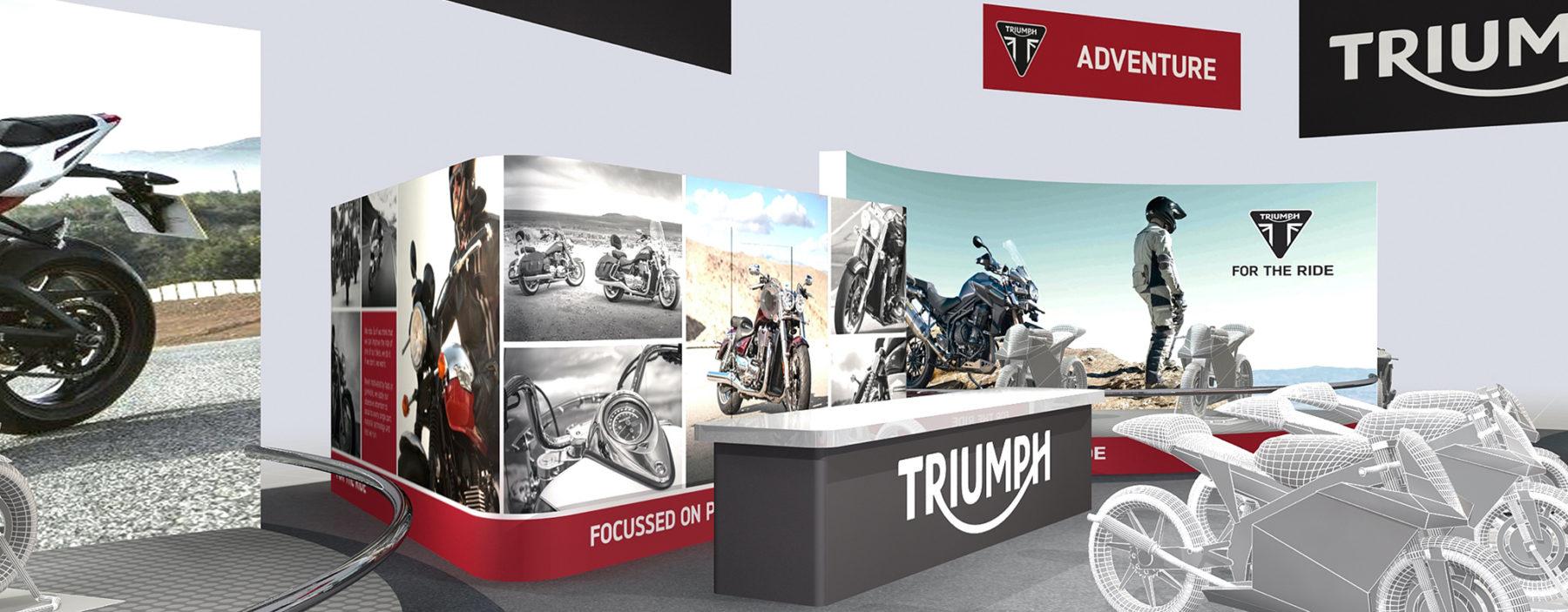 Exhibition stand design solution for Triumph