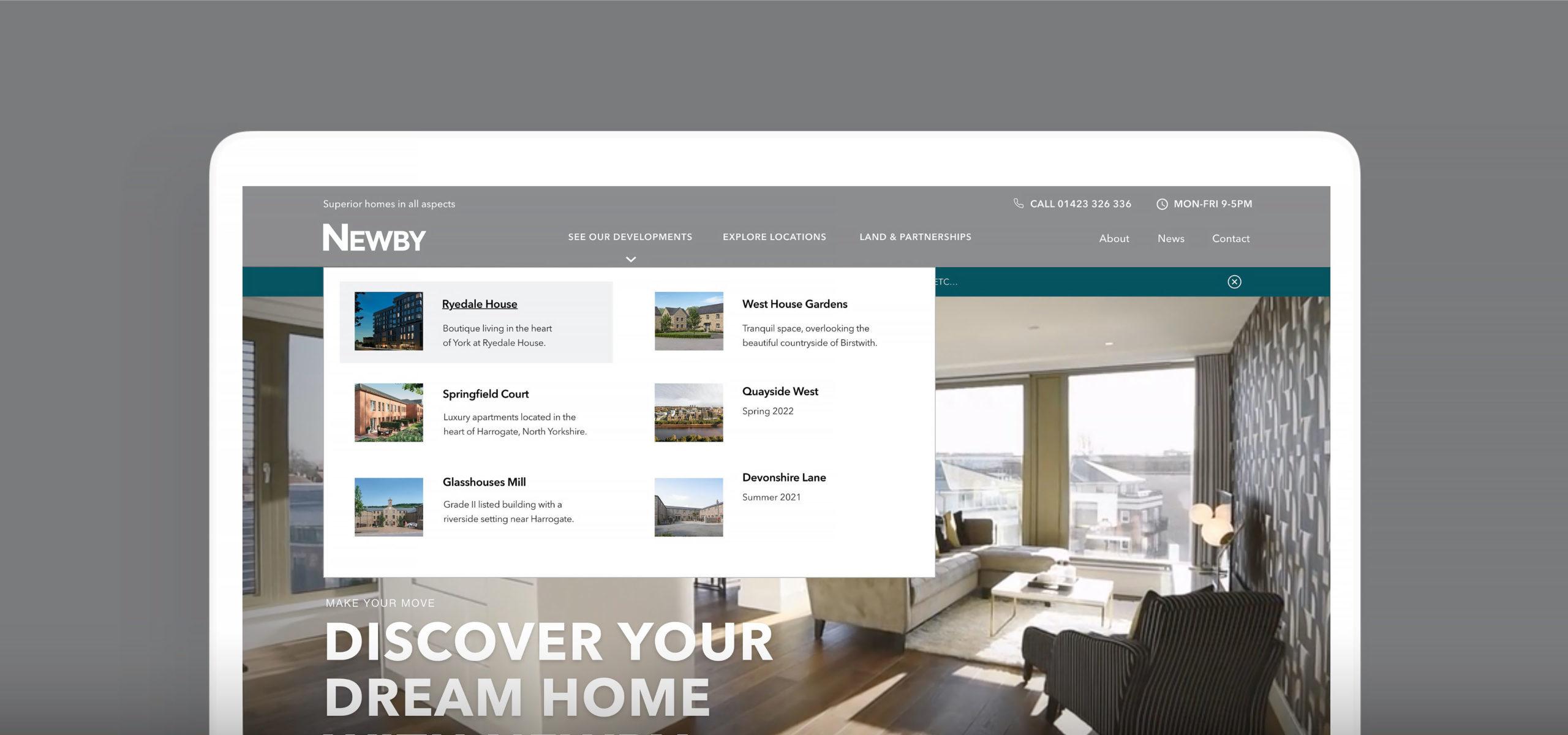 Newby Homes new website