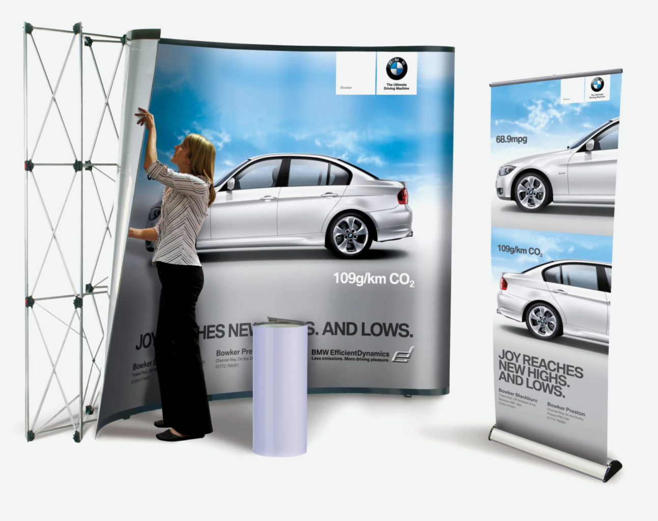 Putting up an exhibition stand