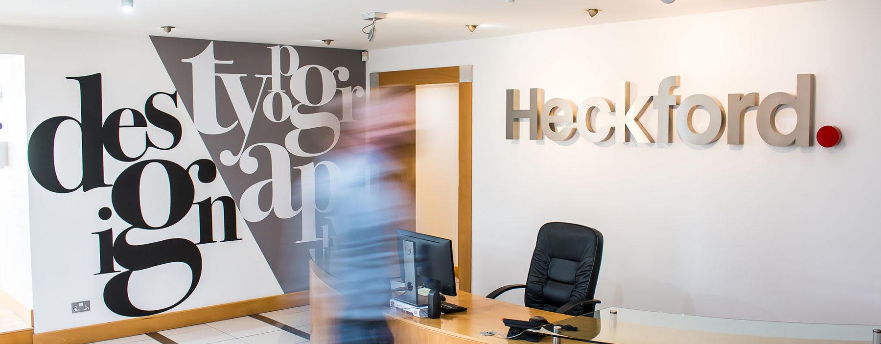 Multi-disciplined marketing agency reception area