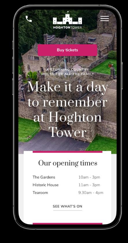 Mobile website design front page mockup