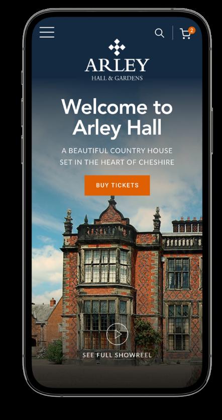 Mobile website design homepage mockup