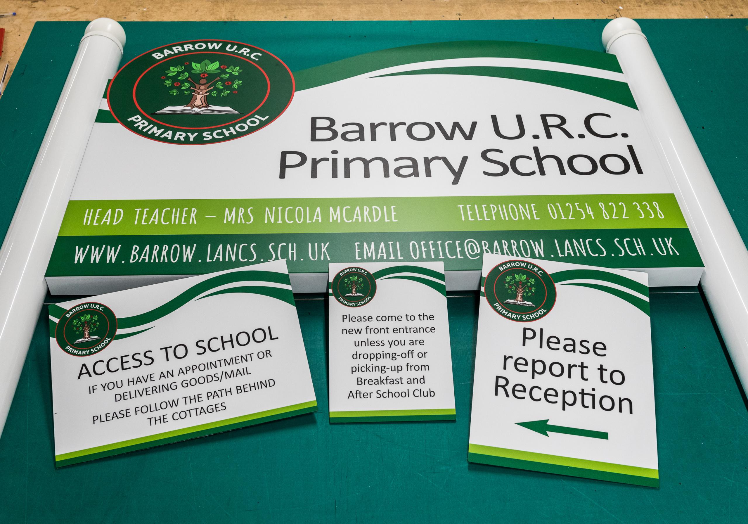 Barrow School SIgnage